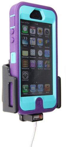 Brodit 514437 Kfz-Halterung mit Kabelanchluss für Apple iPhone 5 (62-77/9-13mm) schwarz