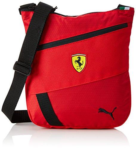 PUMA Uni Ferrari Fanwear Portable Umhängetasche, Rosso Corsa Black, 27 x 25 x 1.5 cm