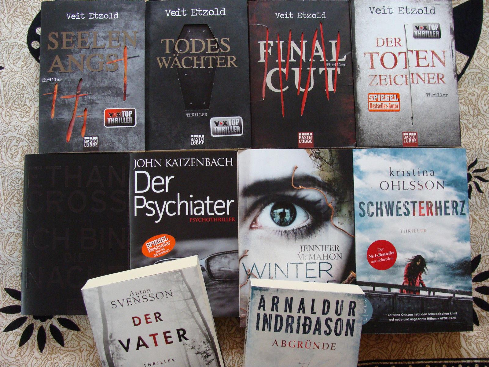 Bücherpaket mit 10 Krimis/Thriller