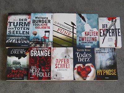 10 Kriminalromane/ Thriller, Krimi, Taschenbuch, Karen Rose u.a.