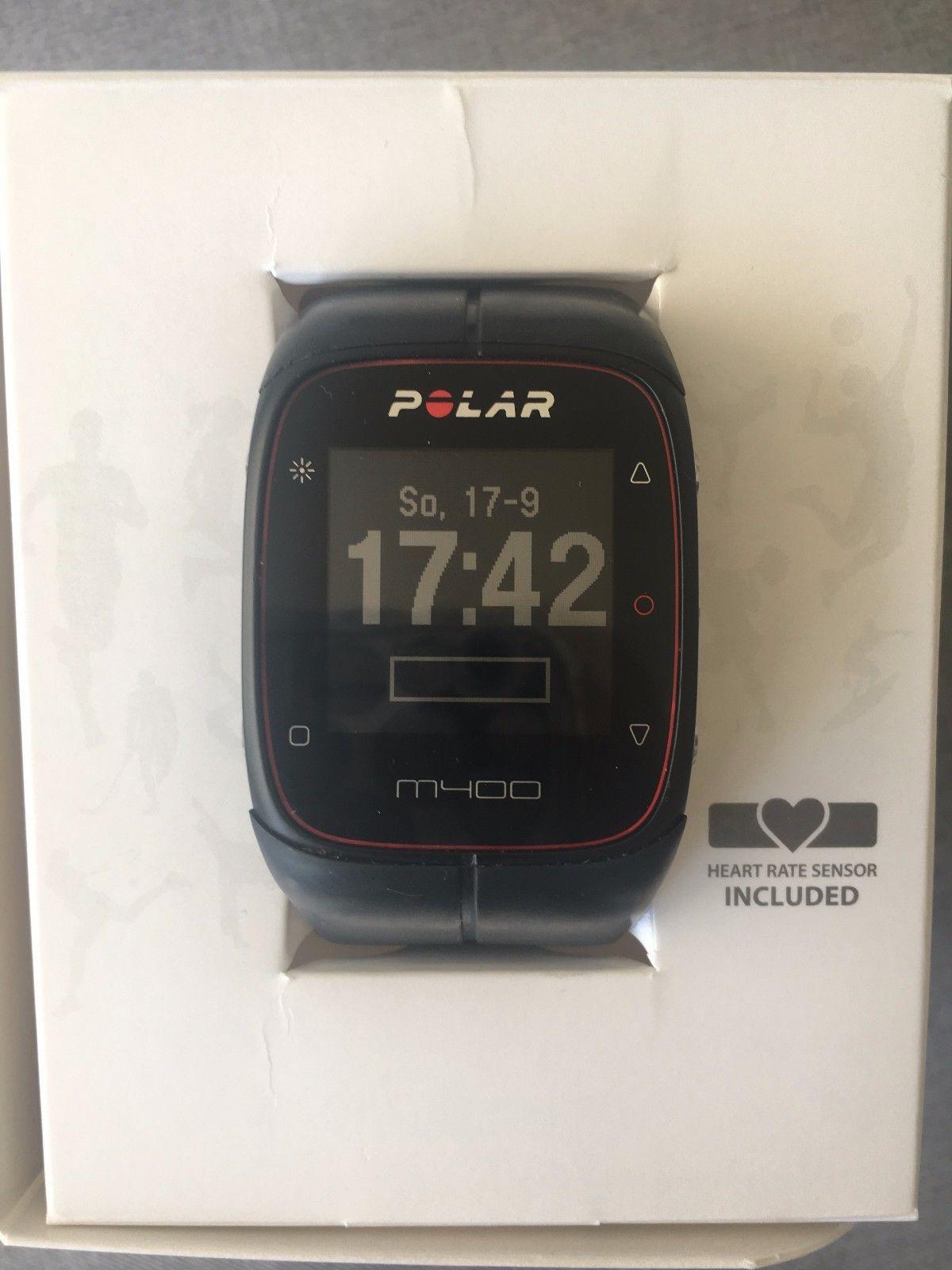 POLAR M400 GPS-Laufuhr Sportuhr Schwarz