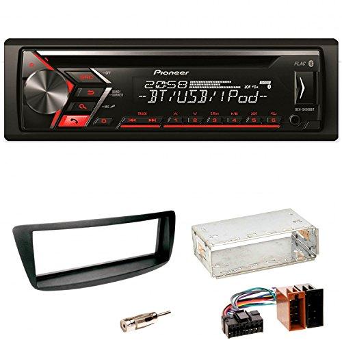 Pioneer DEH-S4000BT Autoradio USB AUX 1-DIN CD iPod MP3 Bluetooth WMA Einbauset Toyota Aygo Citroen C1 Peugeot 107