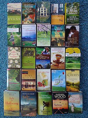 Bücherpaket 25 Liebesromane Frauenromane: Durst-Benning Roberts Willett Sparks