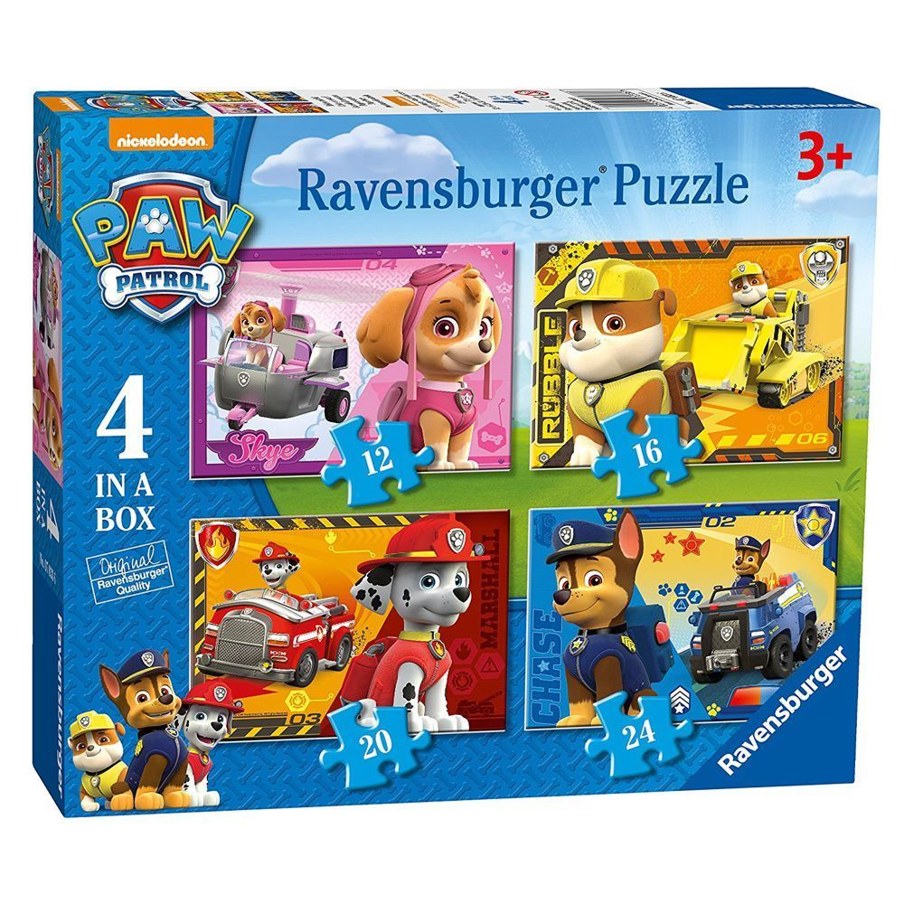 Paw Patrol - Puzzle Box 4 in 1 - 12, 16, 20 und 24 Teile