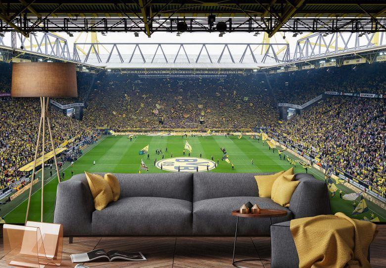 Fototapete Papiertapete BVB Fan-Choreo Borussia Dortmund Signal Iduna Park Foto