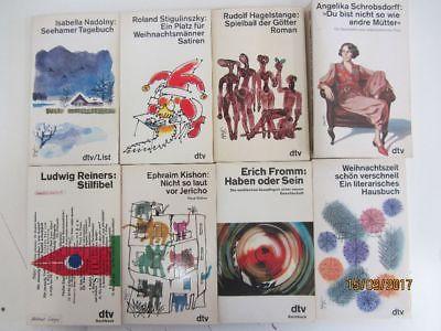 108 Bücher Taschenbücher dtv Verlag weiße dtv Taschenbücher