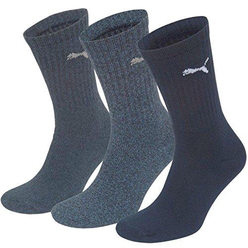Puma Unisex Sport Socken in gewohnter Puma Markenqualität. 9 Paar,mt (35/38, Navy)