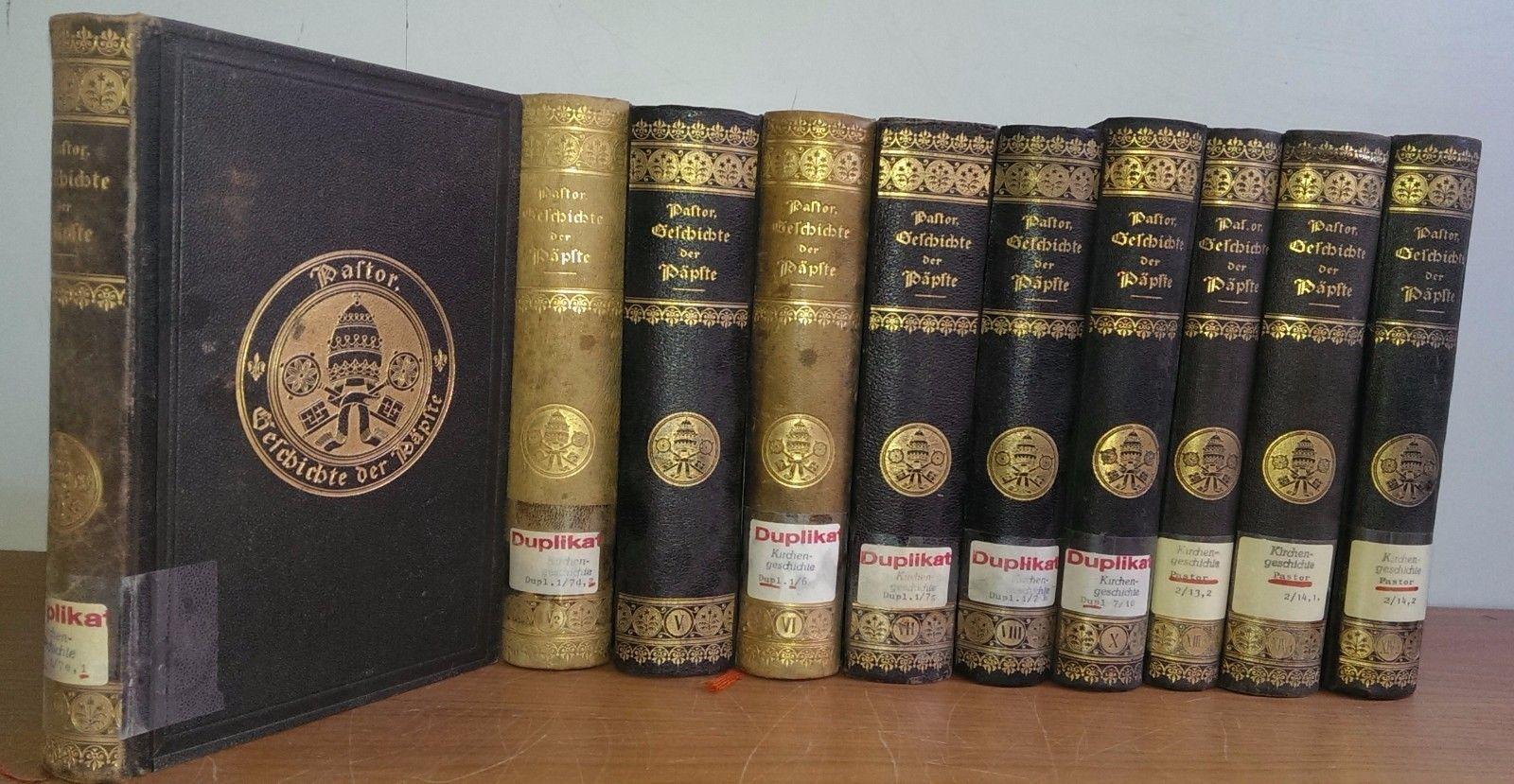 Geschichte der Päpste - Ludwig Pastor - KONVOLUT aus 10 Bänden