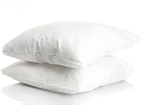2er Pack Prall gefüllte Couchkissen Füllkissen Federkissen Kissen Dekokissen , Größe:50 x 50 cm