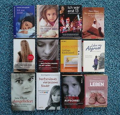 Paket 12 Bücher Schicksale Erfahrungen: Flüsterkind Ich war erst 13 Ausgeliefert