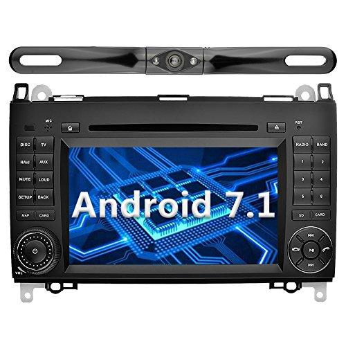 YINUO 7 Zoll 2 Din Android 7.1.1 Nougat 2GB RAM Quad Core Autoradio Moniceiver DVD GPS Navigation 1080P OEM Stecker Canbus Orange Tastenbeleuchtung für Mercedes-Benz A-class W169 (2004-2012)/ Mercedes-Benz B-class W245 (2004-2012) / Mercedes-Benz Viano/Vi