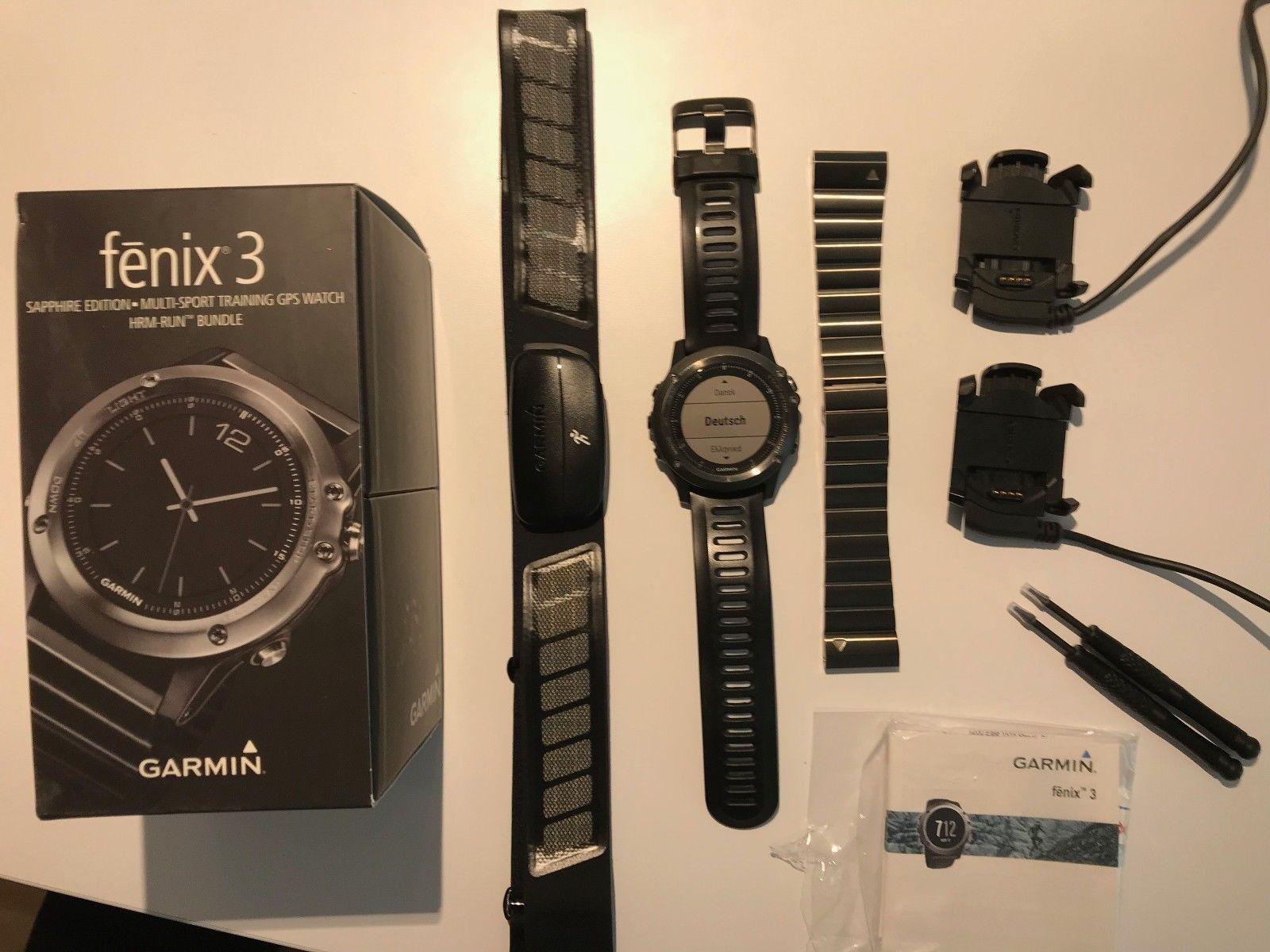 Garmin fenix 3 Sapphire Edition, HRM-Run Bundle