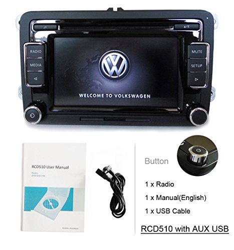 eoda OEM Volkswagen RCD510 KFZ Stereo Radio 6 CD USB AUX SD MP3 Player iPod FM/AM für VW Golf Passat Polo GTI Caddy Sharan Scirocco CC Eos Jetta