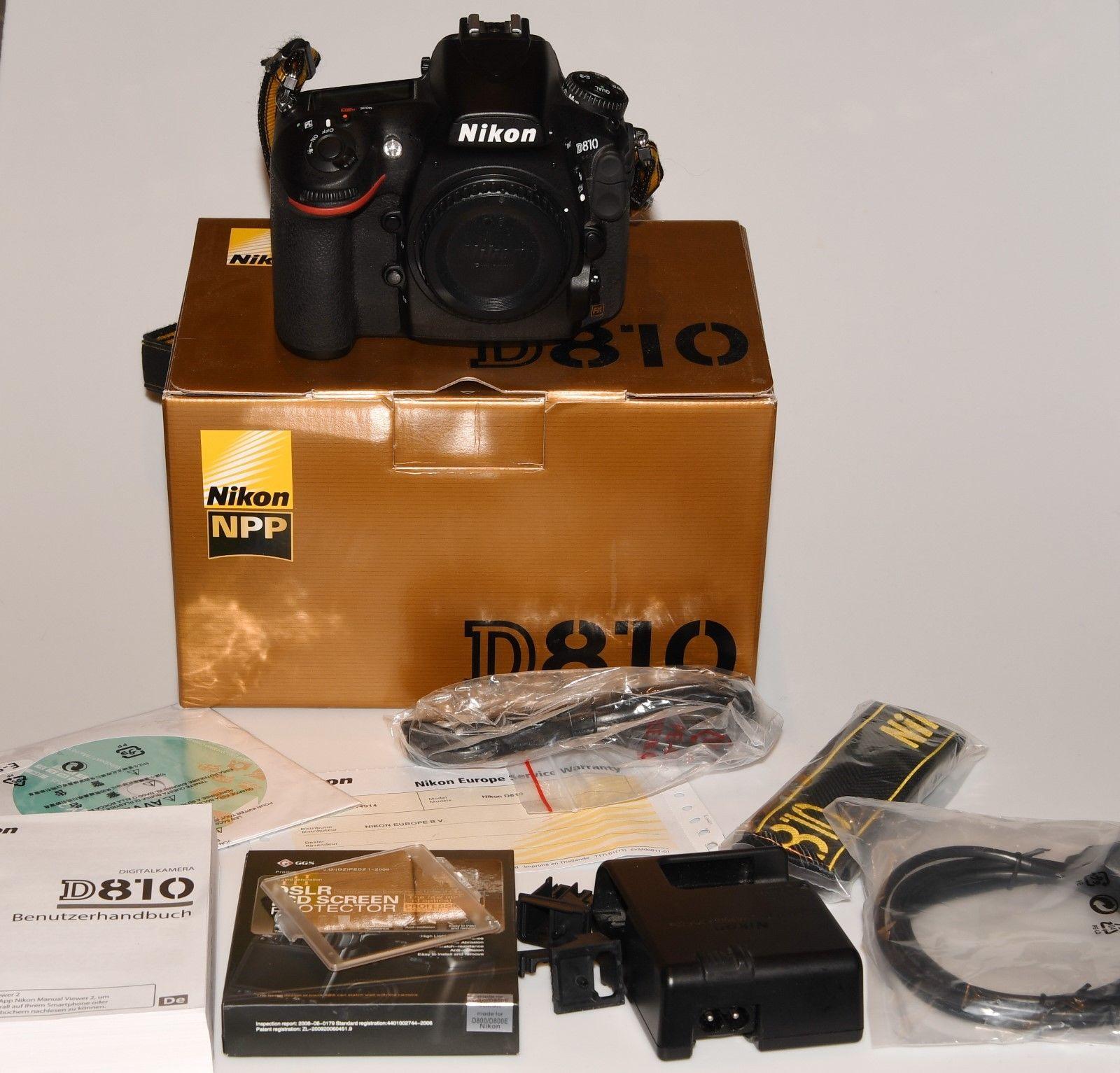 Nikon D D810 36.3MP Digitalkamera - Schwarz (Nur Gehäuse)