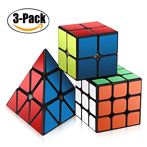 Zauberwürfel Set, Roxenda Zauberwürfeln-Serie von 2x2x2 3x3x3 Pyramid Cube Pyraminx Würfel Smooth Zauberwürfeln
