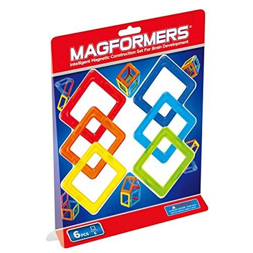Magformers 274-03 - Quadrat Spielzeug, 6-er Set