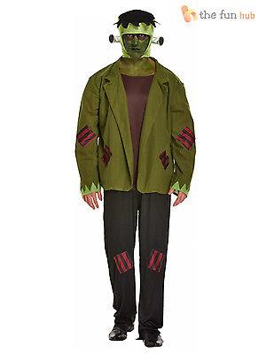 Mens Frankenstein Costume Monster Horror Halloween Fancy Dress Size L- XXL