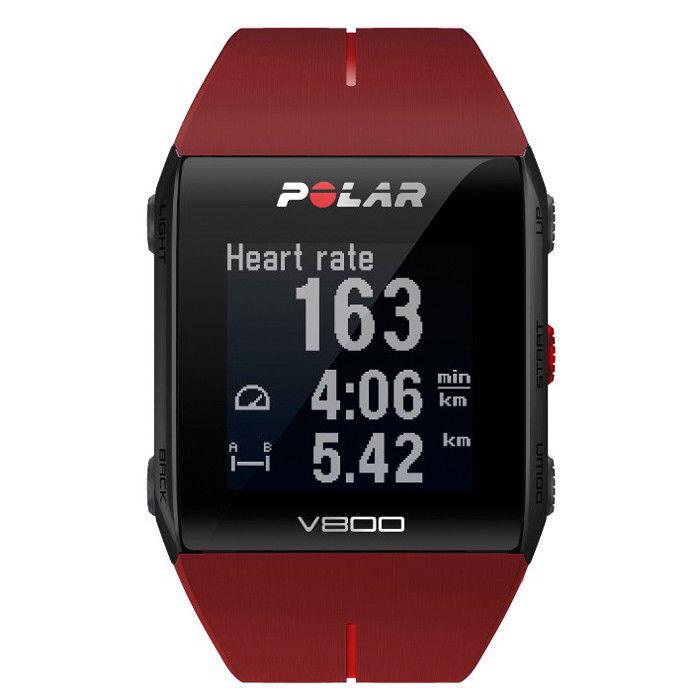 Polar V800 HR mit Brustgurt GPS Pulsuhr Sportuhr Sports Watch rot Fitness NEU