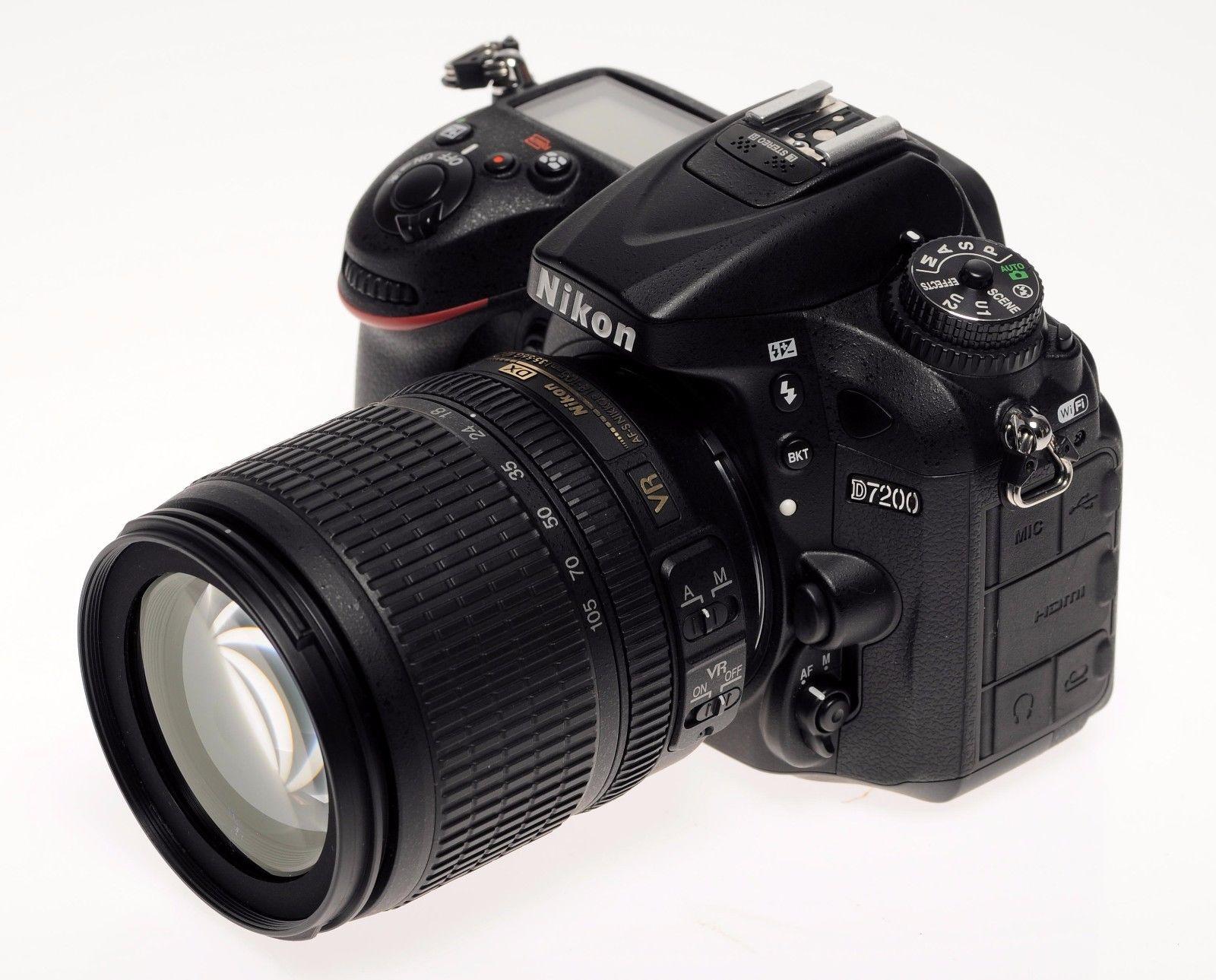 Nikon D7200+18-105 KIT Schwarz -gebraucht---- TOP ZUSTAND---