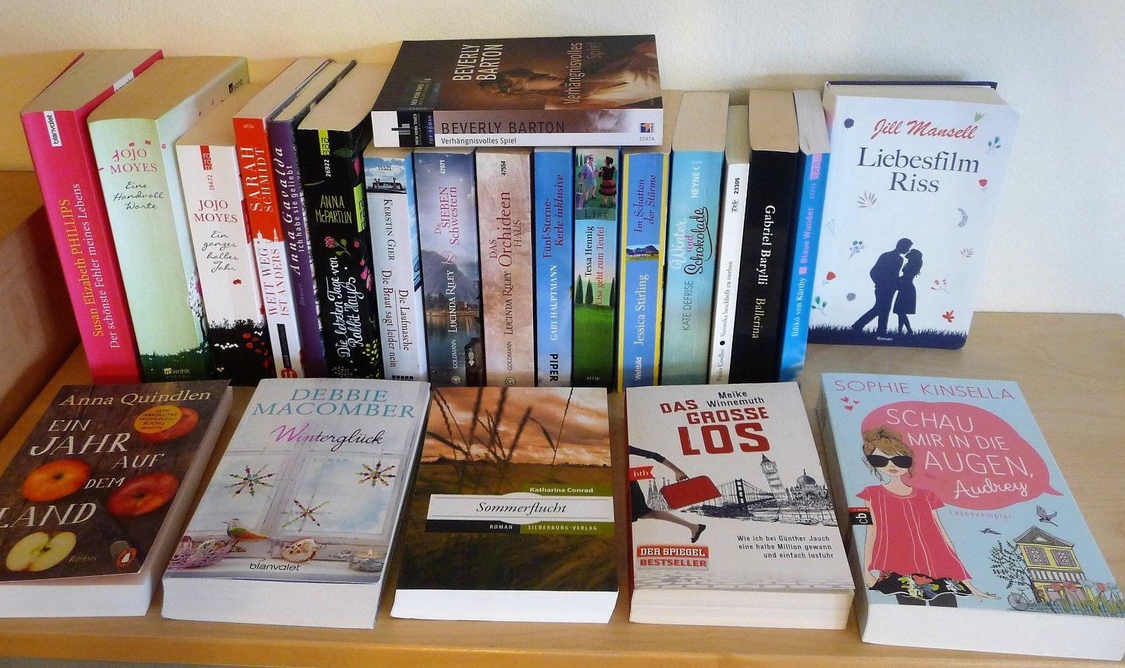 Paket 24 Bücher Frauenromane Liebe Romantik Humor Jojo Moyes Lucinda Riley