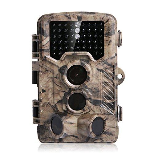 Wildkamera, Distianert 16MP 1080P HD Jagdkamera 46 St. 940nm No-Glow Schwarze Infrarot-LEDs, 2.4