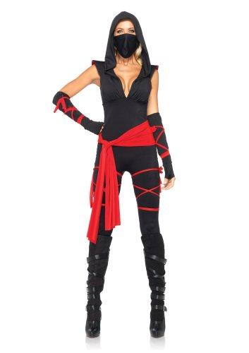 Leg Avenue 85087 - 5TL. Tödliches Ninja Kostüm, Größe M, schwarz, Damen Karneval Fasching