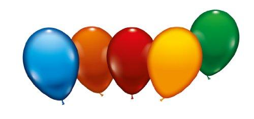Karaloon 10000 - 8 Ballons 23-25 cm, sortiert