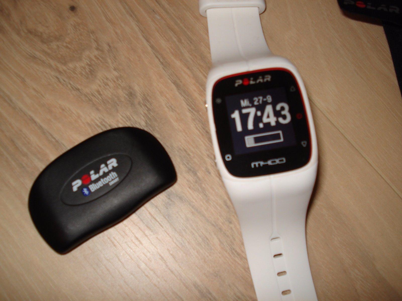 Polar M400 - Weiß - GPS Laufuhr - Trainingscomputer mit Brustgurt