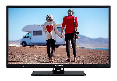 Telefunken XH24D101V LED Fernseher 24 Zoll HD TV Triple-Tuner DVB-T2/C/S2 12V
