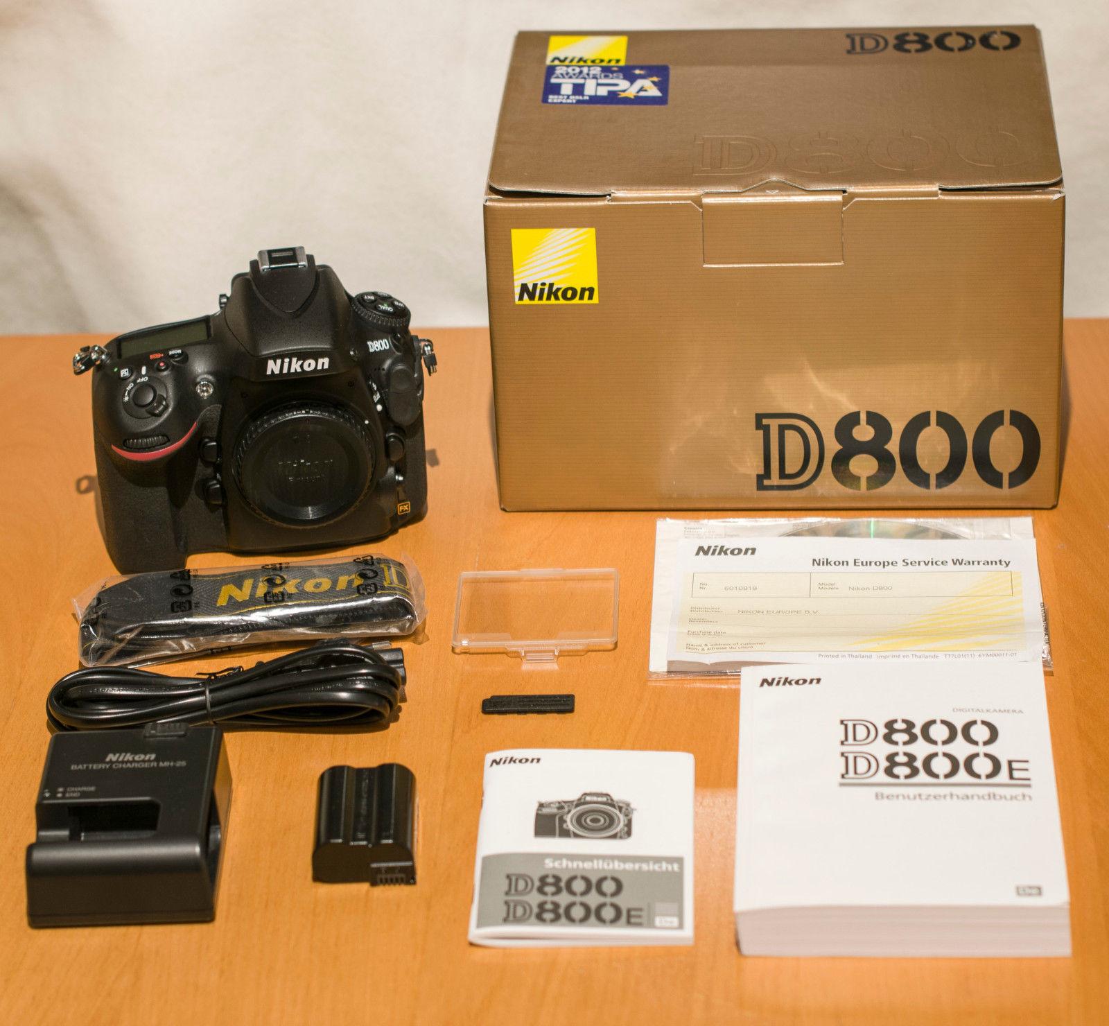 Nikon D D800 36.3 MP SLR-Digitalkamera - 40678 Auslösungen