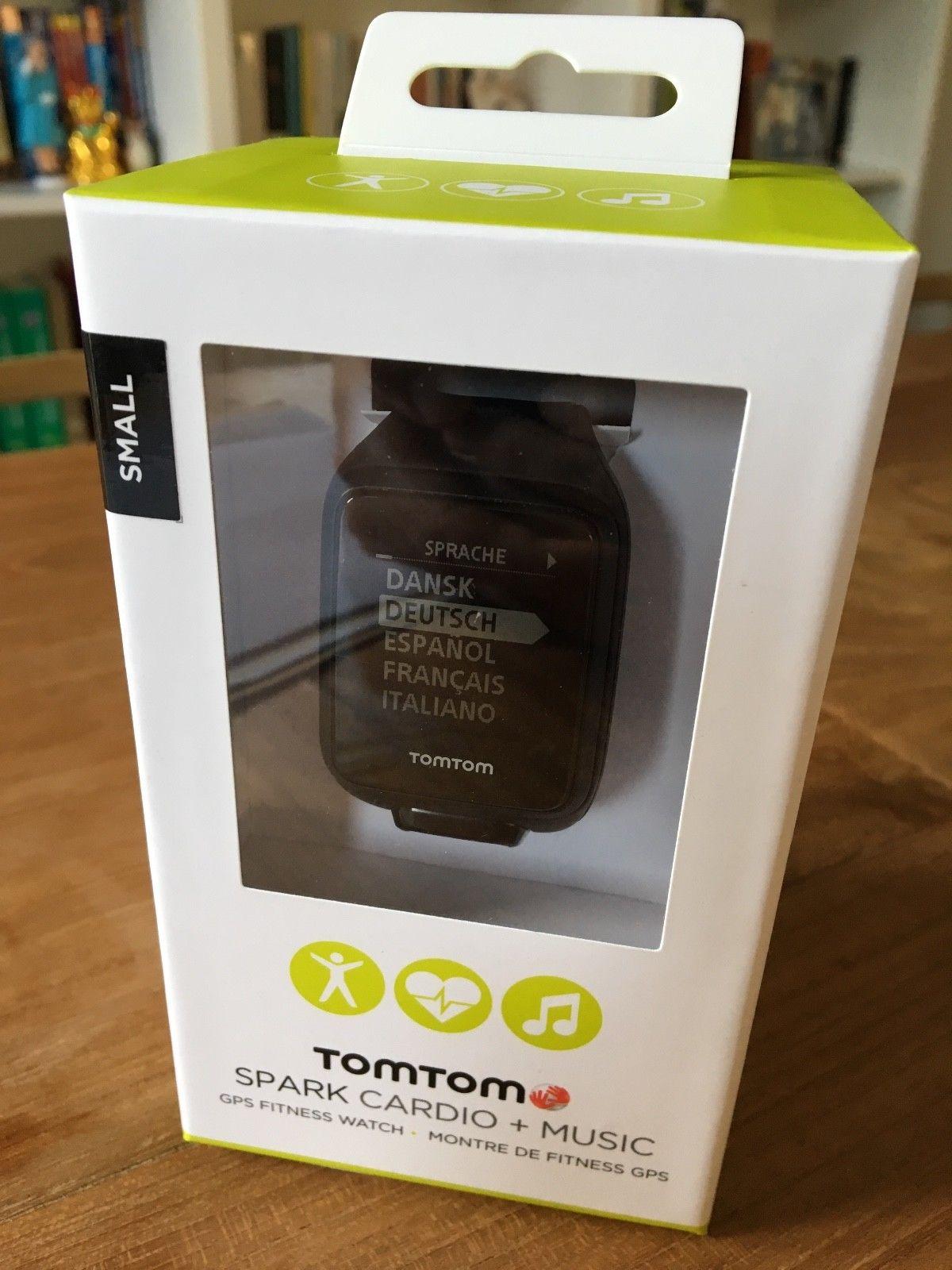 TomTom Spark Cardio + Music GPS-Fitnessuhr Schwarz (Größe S) in OVP - TOP