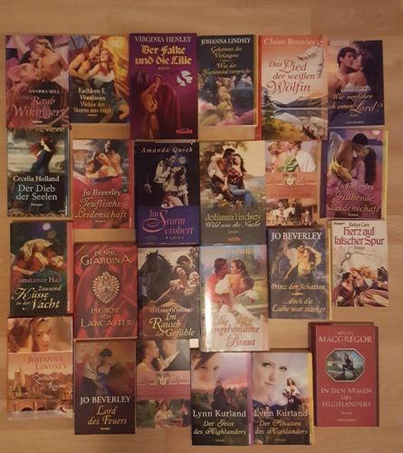 24 historische Liebesromane, Romane , Bücherpaket, Büchersammlung, Highlands