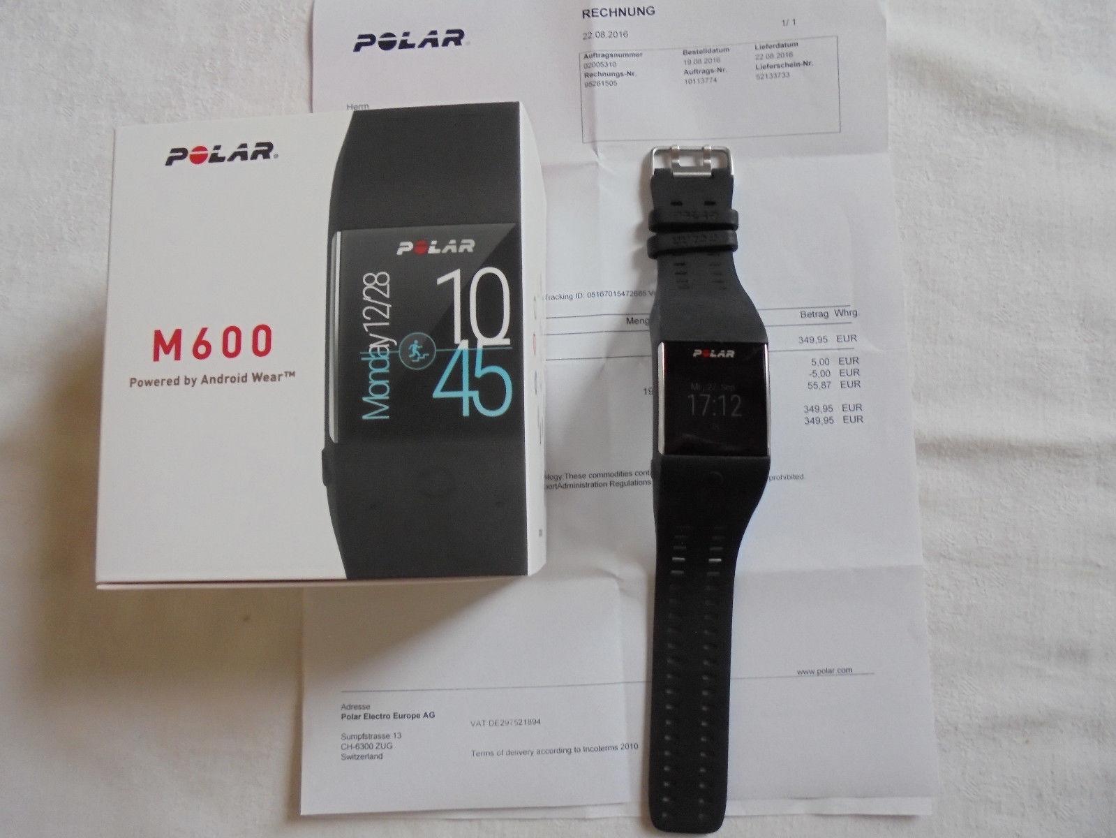 polar m600 smartwatch   komplett mit Rechnung in OVP, keine Kratzer, wie Neu
