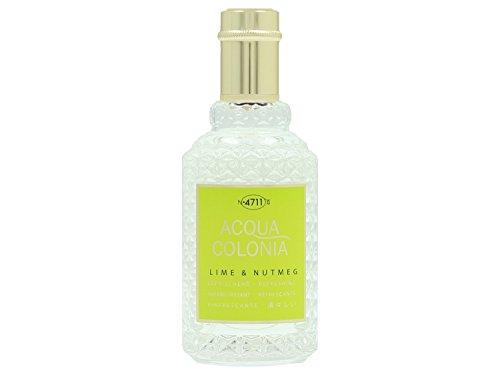 4711 Acqua Colonia Lime and Nutmeg unisex, Eau de Cologne, Vaporisateur / Spray 50 ml, 1er Pack (1 x 0.168 kg)