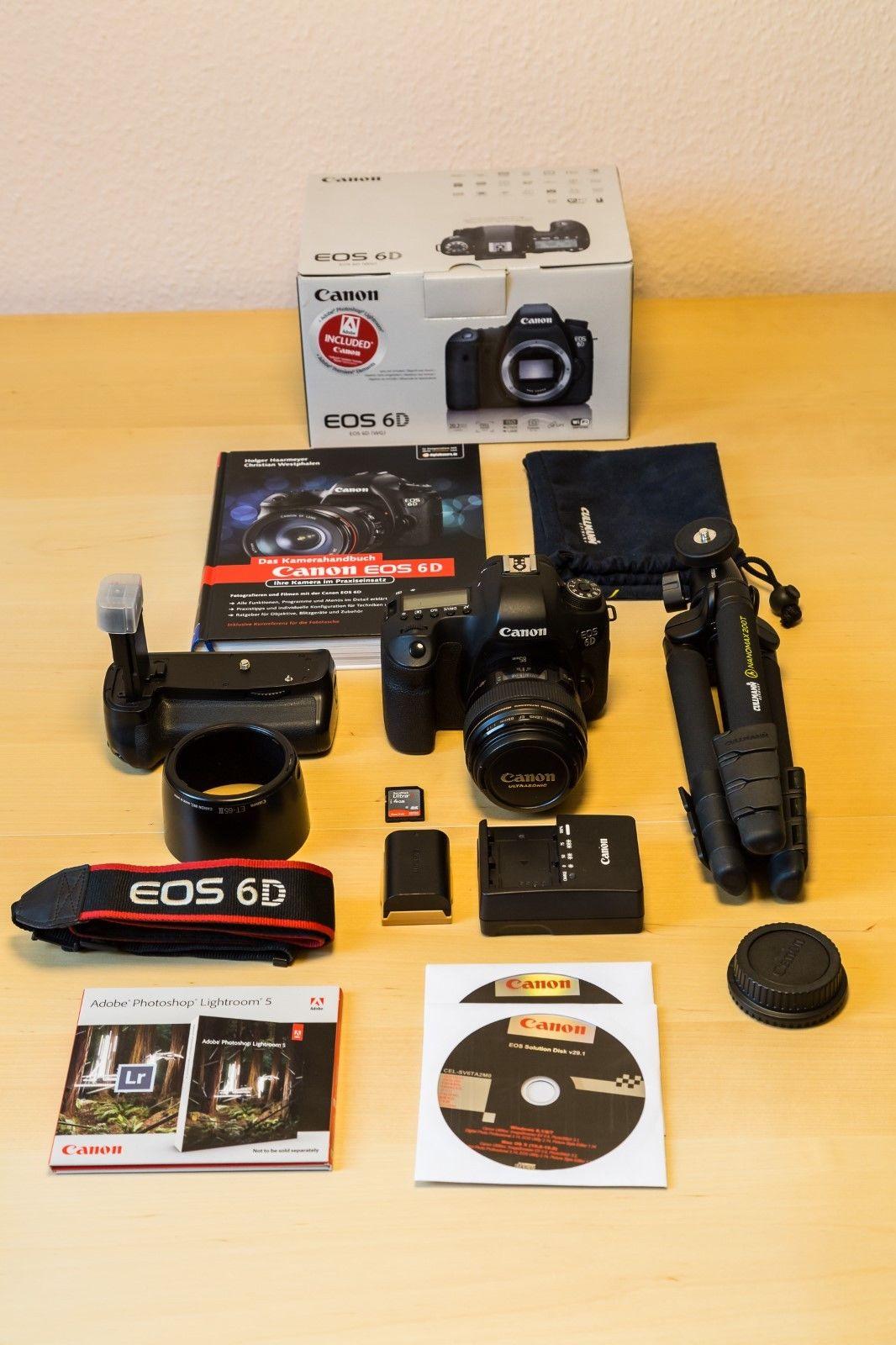 Canon EOS 6D mit Canon EF 85 mm f1,8 USM und Zubehörpaket
