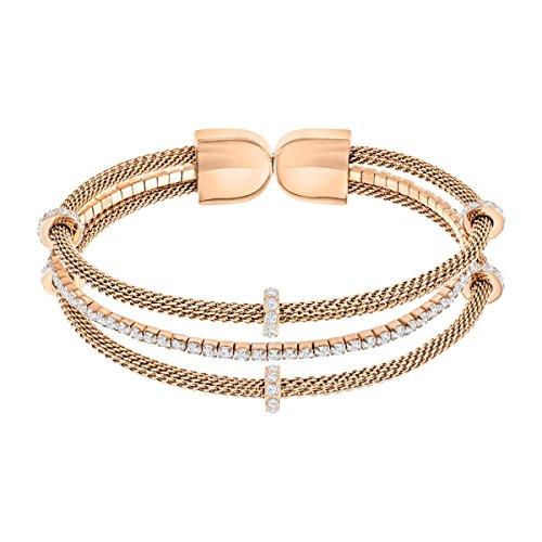 Swarovski Damen-Armband GATE teilvergoldet Kristall weiß 5.3 cm - 5294902
