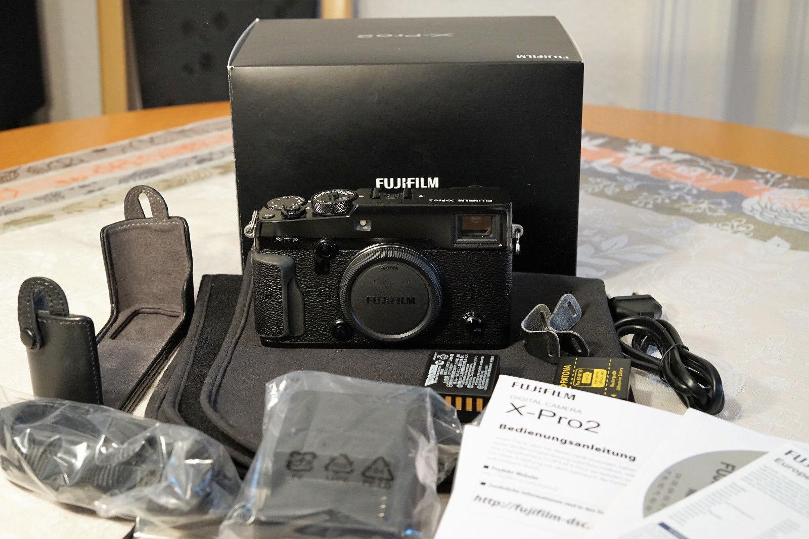 Fujifilm X Pro2, Body, schwarz, 3 Monate jung Zubehörpaket