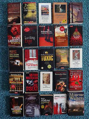 Bücherpaket 25 Krimis Thriller Patterson Crombie Kellerman McDermid Mankell Leon