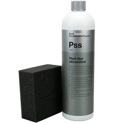 Koch Chemie Plast Star siliconölfrei Kunststoffpflege außen 1Liter inkl.Schwamm