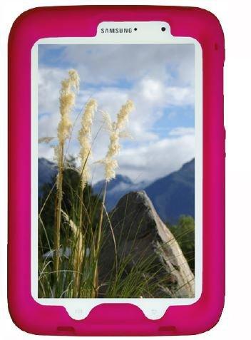 Bobj Silikon-Hulle Heavy Duty Tasche fur Samsung Galaxy Note 8 Tablet, Modelle GT-N5100, GT-N5110, GT-N5120 - BobjGear Schutzhulle (Himbeere)