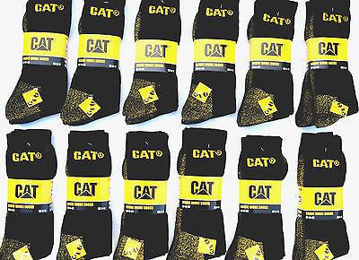 12 CAT® Caterpillar Socken Arbeitssocken 41 42 43 44 45 schwarz Herrensocken