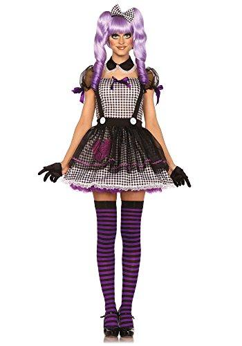 Leg Avenue 85370 - Dead Eye Dolly Damen kostüm, Größe Small (EUR 36), Karneval Fasching