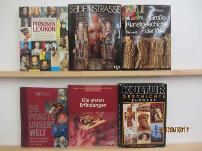 17 Bücher Bildbände Kunst Kultur Geschichte Weltgeschichte