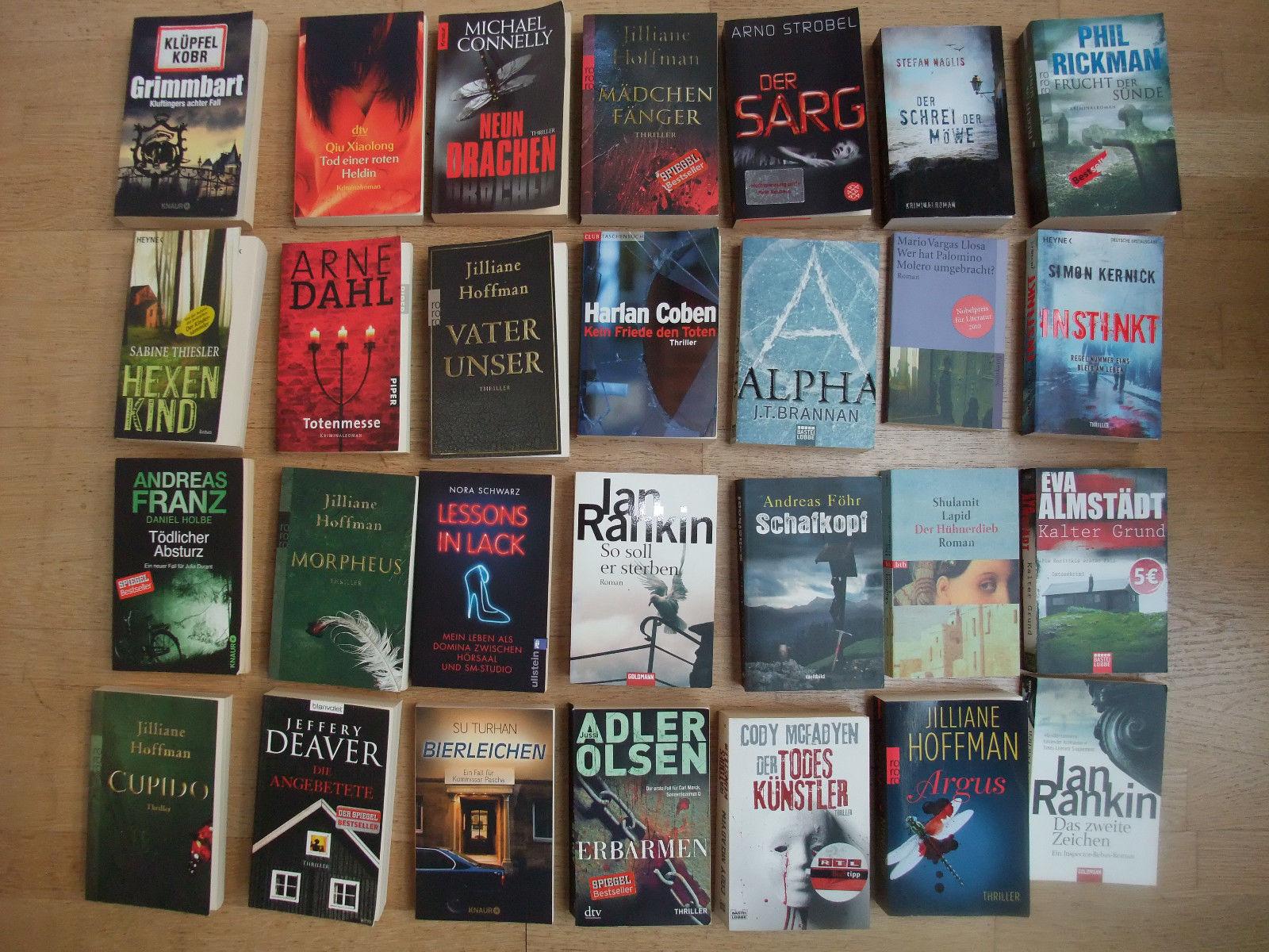 Buchpaket mit 28 Krimis / Thriller