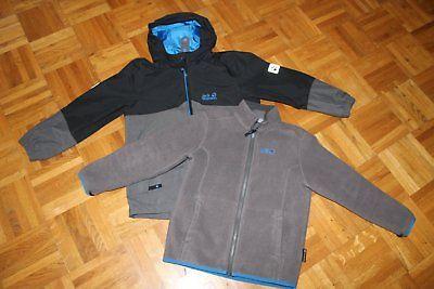Jack Wolfskin Jacke 3 in 1 Funktionsjacke Outdoor Winterjacke Gr. 128 Junge