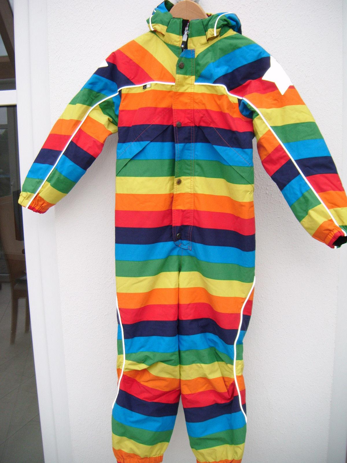 Molo, Schneeanzug, Polaris, Regenbogen, Rainbow, neuwertig, 128, 134, bis  ~ 140