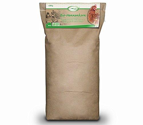 Mühldorfer, Bio-Hennenfutter, Förderung der Verdauung und fester Eischale, Bio-Hennenkorn, 20 kg Sack