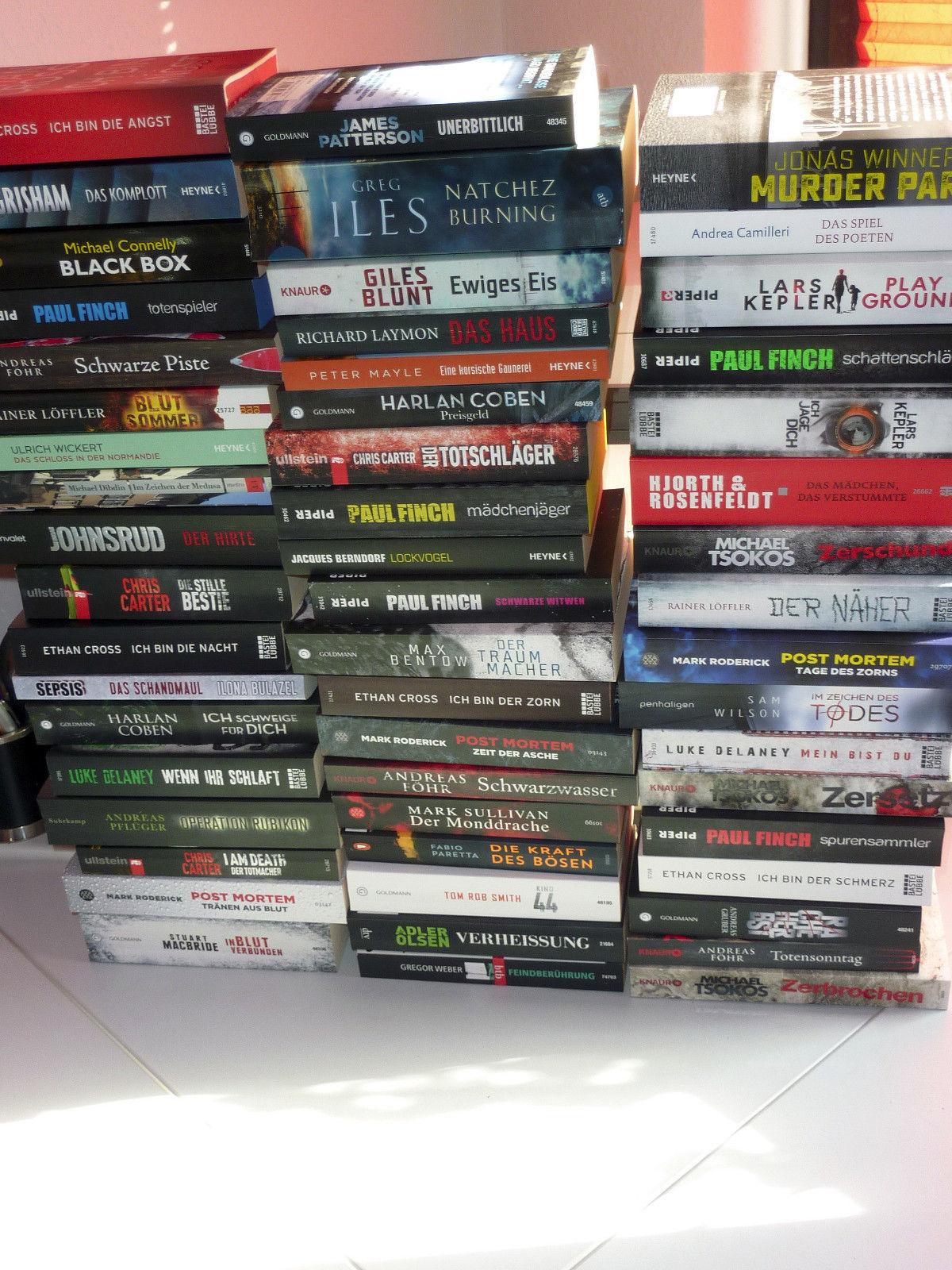 Bücherpaket - 55 Bücher - die besten Spannungsautoren