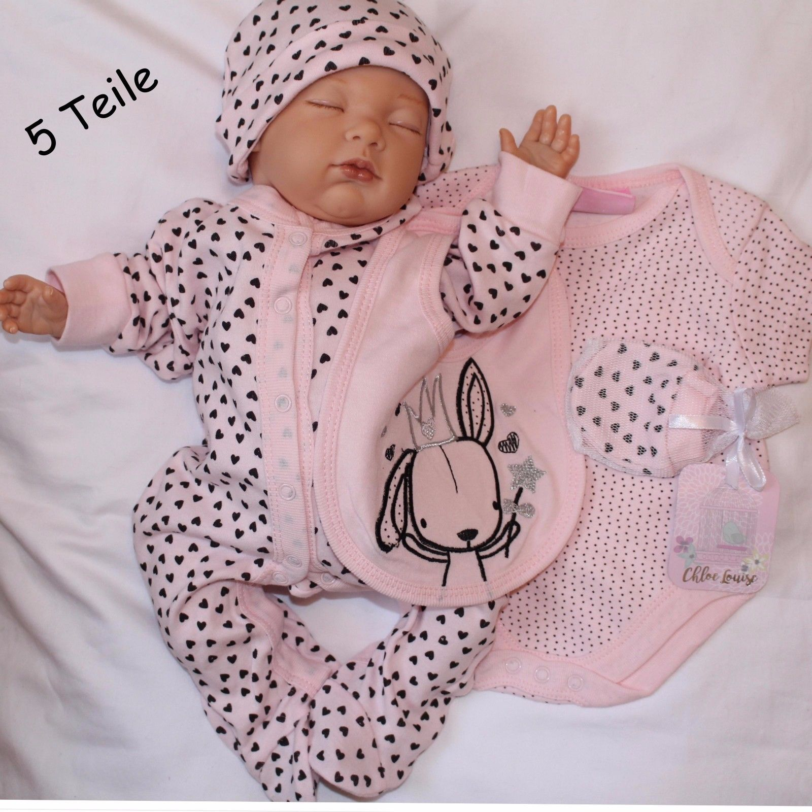 Baby Starterset Erstausstattung 5 Teile Gr. 50,56,62,68 Englandsmode NEU!