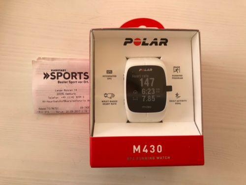 Polar M430 GPS Laufuhr Pulsuhr Trainingscomputer Uhr weiß - NEU OVP mit Gewähr